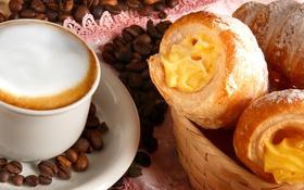 Обои аромат, крем, кофейные зерна, coffee, трубочки, кофе, cream flavor