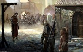Картинка война, эльфы, орден, Геральт, The Witcher. Ведьмак, Золтан