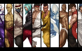 Картинка Ryu, Yun, Twelve, Street Fighter III: 3rd Strike, Yang, Urien, Sean Matsuda