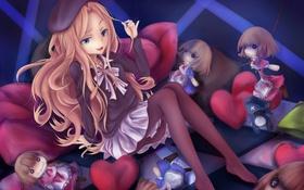 Обои взгляд, девушка, улыбка, куклы, art, to aru majutsu no index, taketiyi