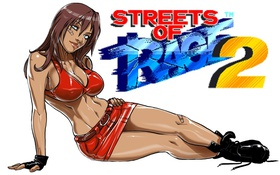 Картинка девушка, игра, Streets Of Rage 2, Blaze