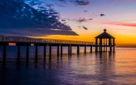 Обои sunset, США, вечер, Louisiana, Луизиана, state, sky