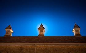 Обои крыша, небо, ночь