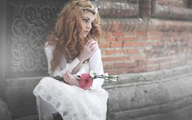 Картинка грусть, цветы, платье, broken wing