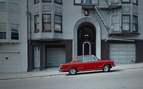 Обои наклон улица, Соединенные Штаты, Сан-Франциско, дома, автомобиль, Калифорния, город