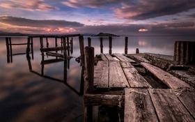 Картинка Italia, Lago di Bolsena, pontile