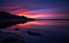 Обои закат, пейзаж, природа