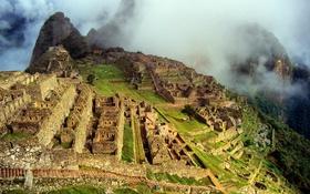 Обои небо, горы, город, развалины, руины, Перу, Мачу-Пикчу