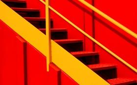 Обои металл, краски, лестница, ступени
