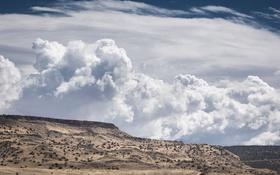 Обои природа, облака, пустыня, New Mexico
