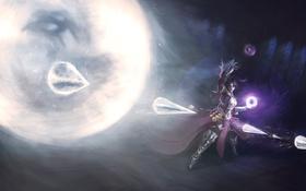 Обои Diablo III, девушка, Anmariel, Power of the Storm, Reaper of Souls, арт, лед