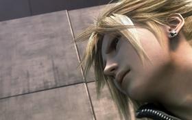 Обои парень, серьга, блондин, Final Fantasy VII, Cloud Strife