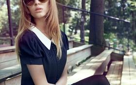 Картинка очки, платье, девушка, Josephine Skriver, волосы