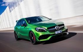 Обои Mercedes-Benz, зеленый, мерседес, AMG, A-class, амг, W176