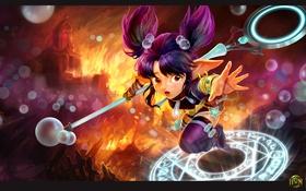 Картинка пузырьки, девочка, чародей, Pearl, Heroes of Newerth