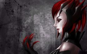 Обои League of Legends, профиль, рука, Elise, арт, девушка