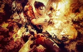 Обои video game, PlayStation 3, Jin Kazama, Namco Bandai, Power is Everything, Tekken Revolution