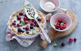 Обои cranberry tart, клюква, ягоды