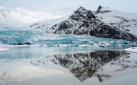 Обои ice, winter, mountain, iceland