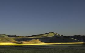 Картинка тень, горы, поле, небо, солнце