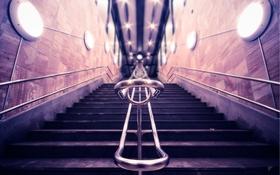 Обои фокус, перила, ступени, by Robin de Blanche, Steps