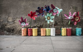 Обои colours, street, Urban Flowers