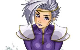 Картинка девушка, лицо, прическа, белые волосы, art, naomi
