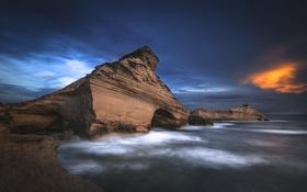 Обои Corsica, Fire & Water, Capu Pertusatu