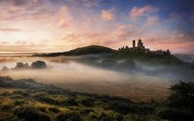 Обои Dorset, National Trust Corfe Castle, England