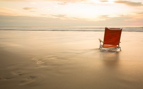 Обои туман, море, кресло
