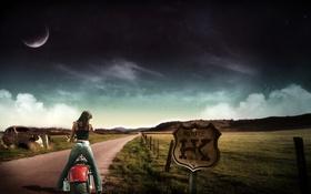 Картинка moto, auto, Girls