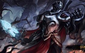 Обои меч, доспехи, Slayer, рыцарь, art, Heroes of Newerth, Witch Slayer