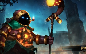 Обои Bubbles, art, Heroes of Newerth, Steam Mage Bubbles, Steam Mage