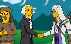 Обои симсоны, коннор, Connor Kenway, George Washington
