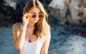 Картинка лето, взгляд, модель, очки, Daria