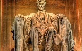 Картинка Abraham Lincoln, statue, Washington DC