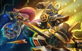 Обои фантастика, роботы, арт, Heroes of Newerth, Gundam, Savior, Savior Solstice
