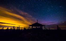 Обои природа, звезды, космос, ночь