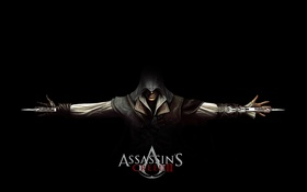 Картинка Ассасин, Эцио Аудиторе, Скрытые Клинки, Убийца. Скрытый Клинок, Assassins Creed II