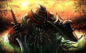 Обои Fable, Nostro, доспехи, шлем, меч, щит