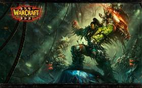 Обои Warcraft, воины, орки, Громмаш, Гром Задира, клан Песни Войны