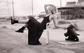 Картинка поза, Vogue, черно-белое, актриса, модель, улица, Abbey Lee