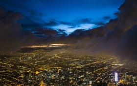 Картинка небо, звезды, облака, ночь, Колумбия, Богота