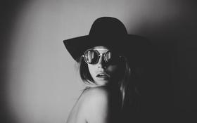 Обои портрет, очки, Annie Mcginty, шляпа