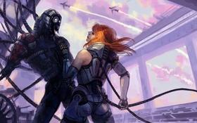 Обои shepard, Mass Effect, Legion, Geth, synthesis