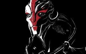Обои арт, Mass Effect, наемник, turian, Nyreen Kandros