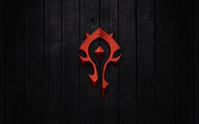 Картинка World of Warcraft, Wow, знак орды, horde