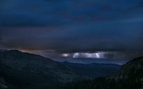Картинка Rocky Mountains, Thunderstorm, Colorado Nightmare, Capitol Peak