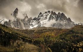 Обои лед, гроза, облака, горы, долина, дождливая