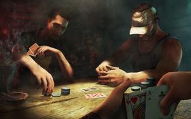 Обои карты, стол, игра, фишки, game, покер, ps3